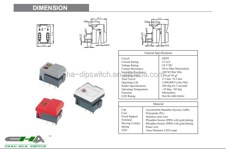 Illuminated Push Button Switch Pb86-a1-a-nr Apply To