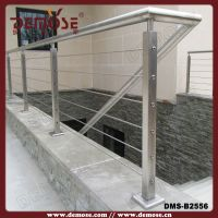 Outdoor Stair Railing Kit/stainless Steel Cable Railing