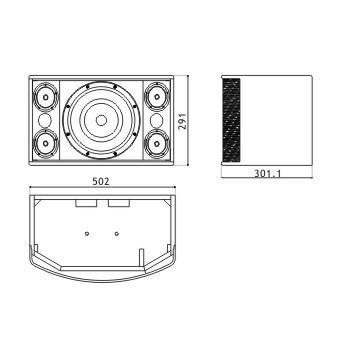 Boutum Audio Speakers Professional 10