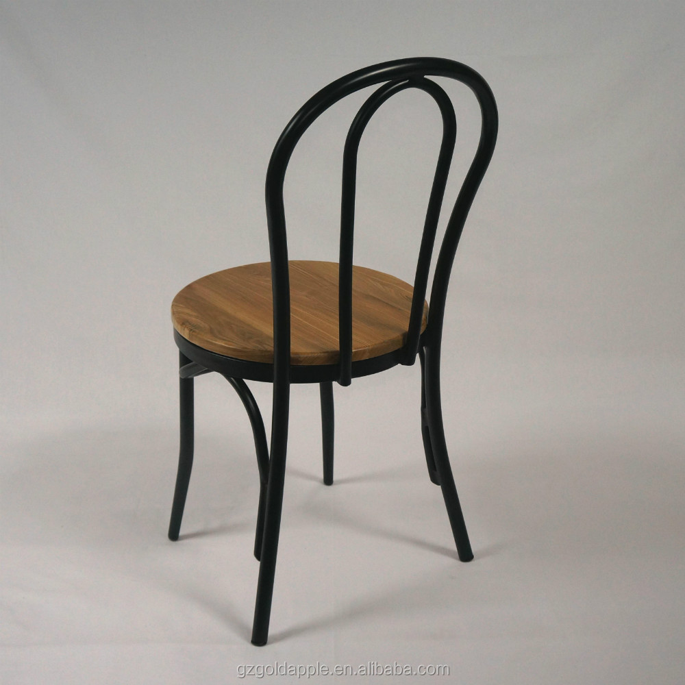 Metal Chairs With Wooden Seats