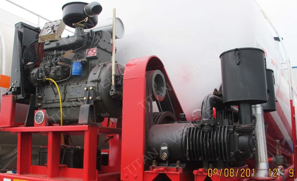 Tri-axle v type silo bulk cement tank semi trailer, dry bulk cement transport semi-trailer for sale