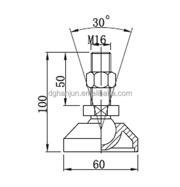 Height Adjustment Screw/ Adjustable Screw Feet/high
