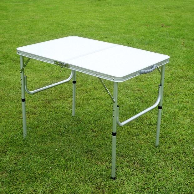 Folding aluminum picnic table home design ideas folding aluminum picnic table watchthetrailerfo