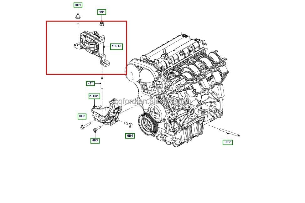 Top qualité Motor mount pour Ford Focus / nouvelle mise au