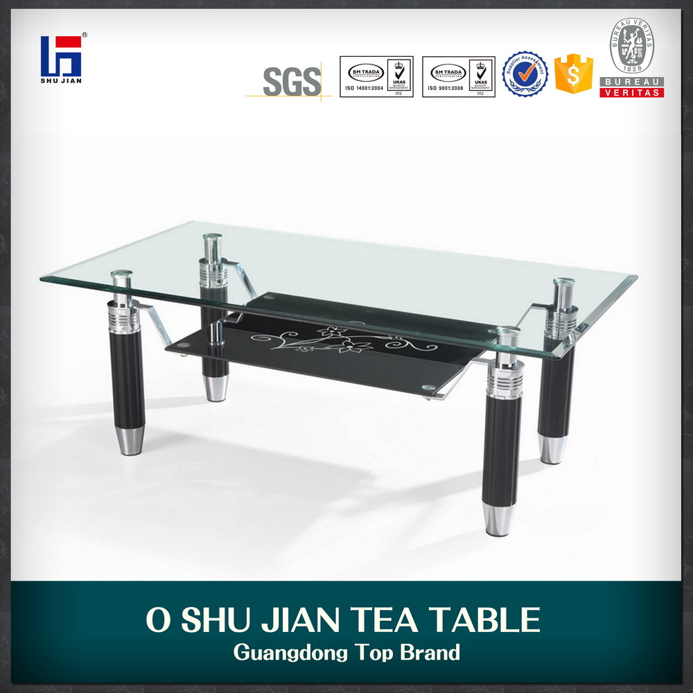 Durable glass coffee table parts