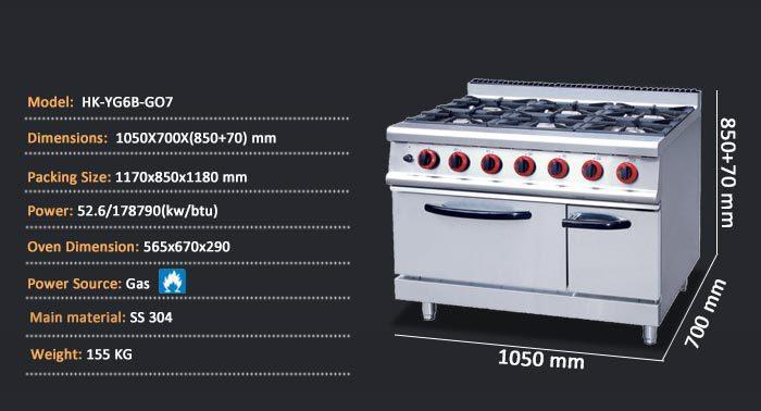 Maquina de gas estufas de cocina para restaurante bar