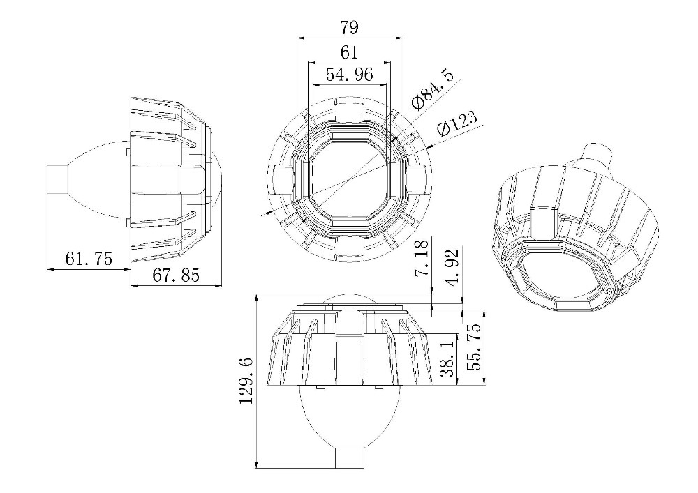 Iphcar Hid Bi Xenon Projector Lens Light,Bi-xenon Mini Cob
