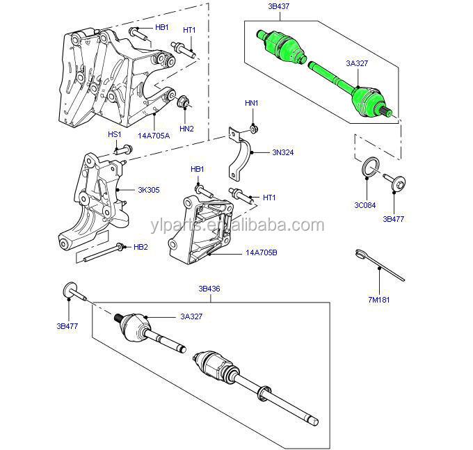 Lr062664/ Lr032114 High Quality Drive Shaft And Cv Joint