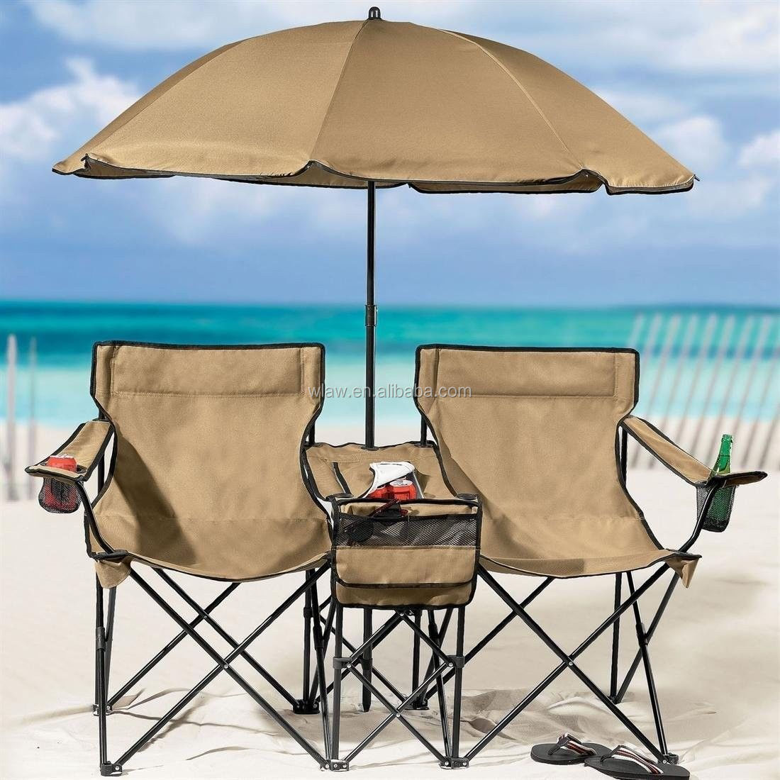 folding chair with umbrella double pressed back oak chairs beach cooler table and buy