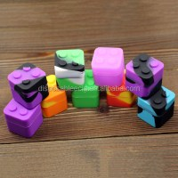 Lego Shaped 9ml Silicone Dab Jar Square Silicone Container