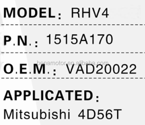 Turbocharger Rhv4 For Mitsubishi L200 4d56t 1515a170