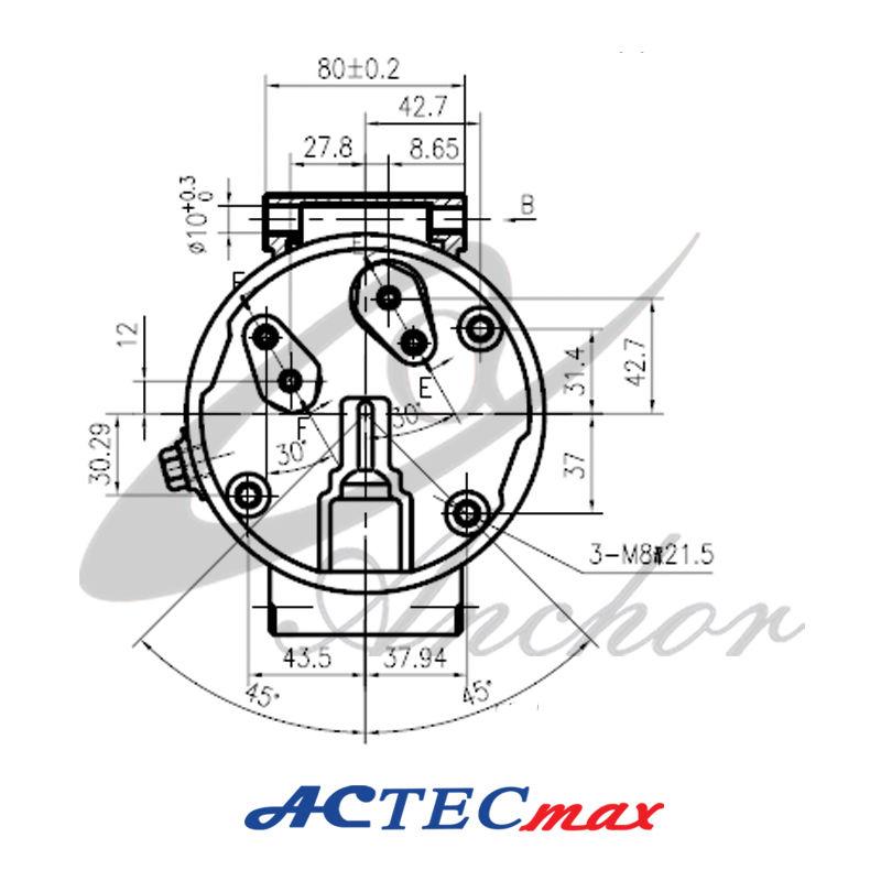 Dc 12v Car Ac Compressor,6.4kw,5 Cylinders,Renault Megane