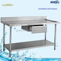 Stainless steel kitchen work table drawers/work table with ...