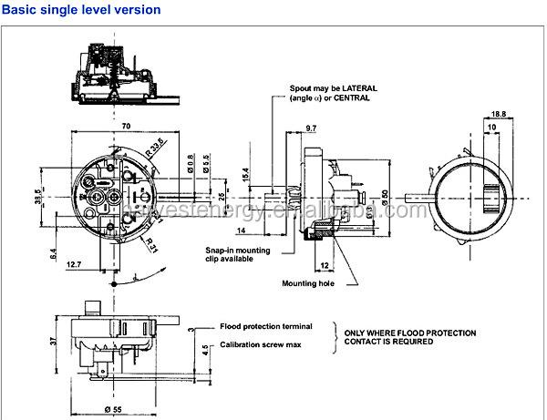 Machine à laver commutateur / pression de la machine à