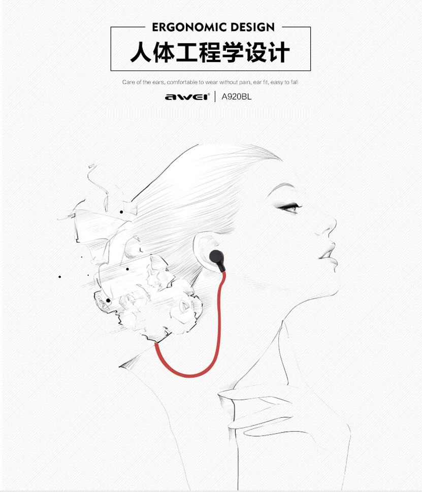 Awei A920bl Wireless Bluetooth Smart Sports Stereo