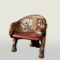Living Room Table And Chair Hand Carved Elephant Polyresin