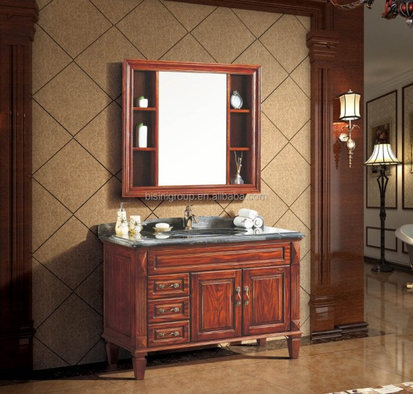 Classic Carved Wood Bathroom FurnitureElegant American