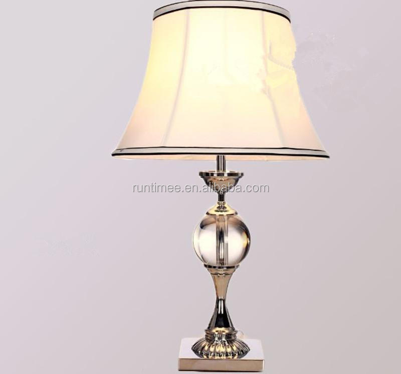 Modern Home Decorative Table Lamp Chinese Crystal White