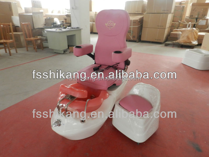 Pink Purple And White Salon Chair For Kid Pedicure Spa