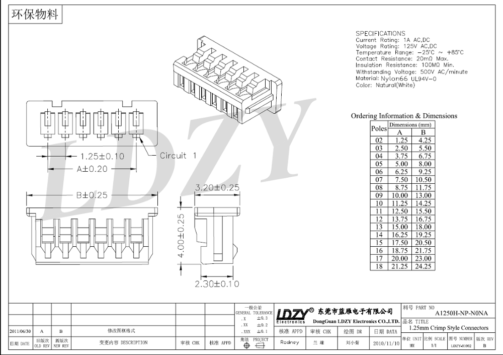 Molex 51021-0600 Picoblade Series Female Housing 6