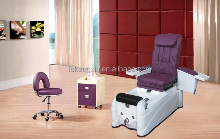 Cheap Purple Whirlpool Spa Pedicure Chair For Beauty Salon