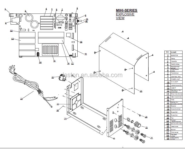 High Quality Single Board Igbt Inverter Dc Arc Welding