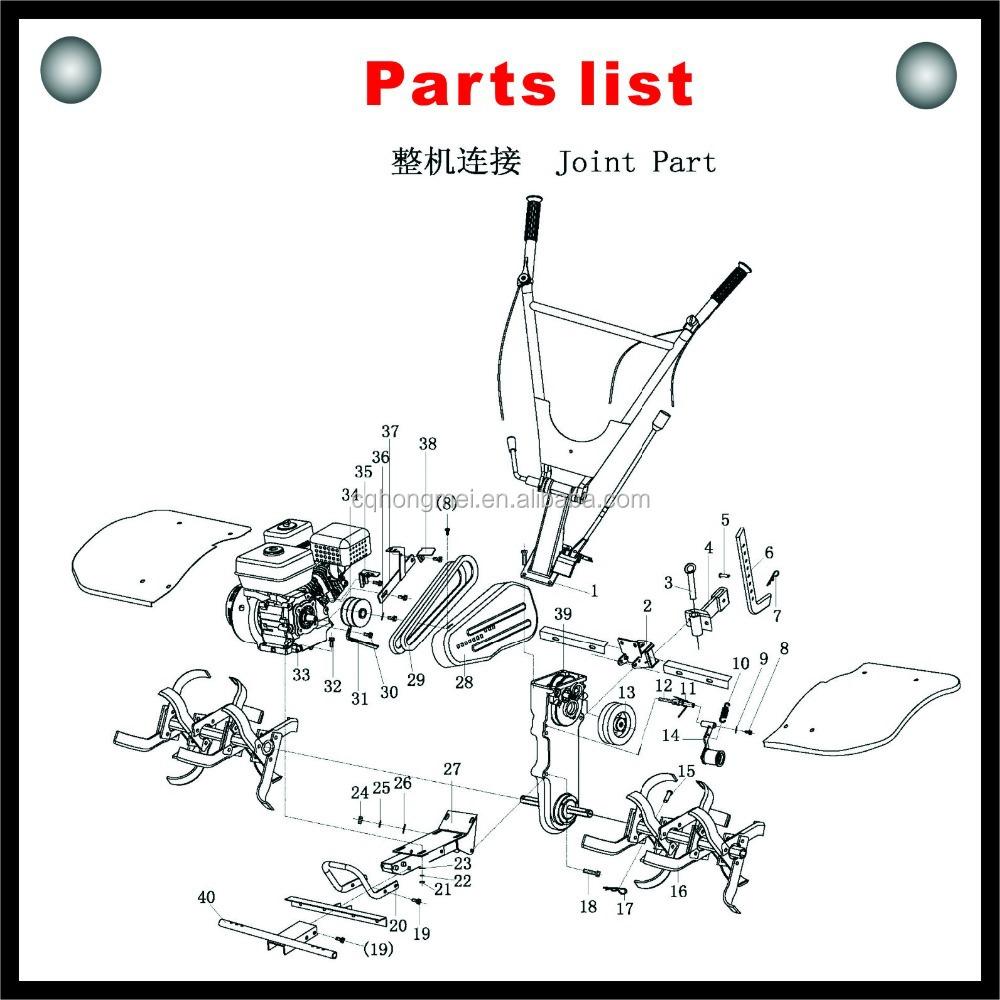 Hongmei 500 Type Farm Use Mini Tiller Cultivator/rotary