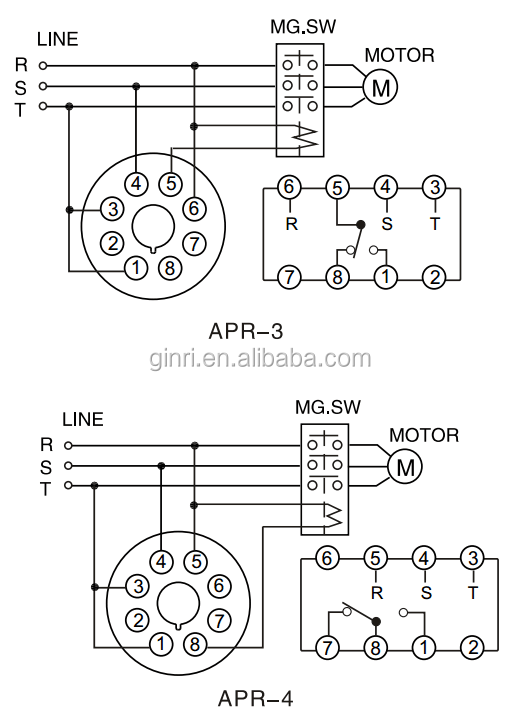 Ginri Apr-4 Phase Failure Relay Electronic Voltage Relay
