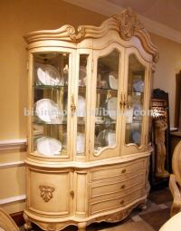 Antique White Glass Wine Cabinet,Wooden Glass Cabinet ...