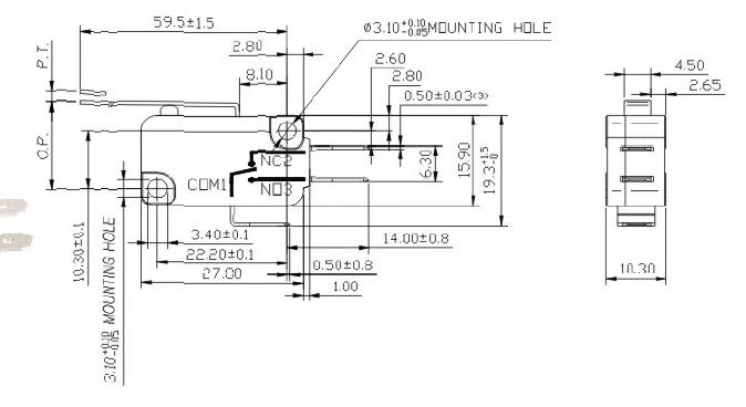 40t85 5e4 Limit Waterproof Micro Switch,Latching Micro