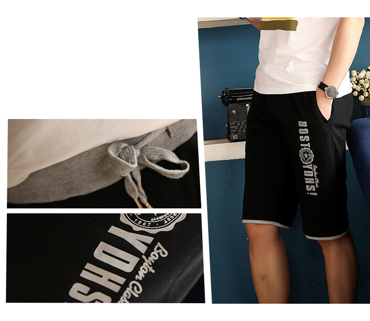 Nova Verão 2014 Casual suave Bermudas Masculinas Confortável malha preto e  cinza dos shorts masculino tamanho M cc3a99a4bebcb