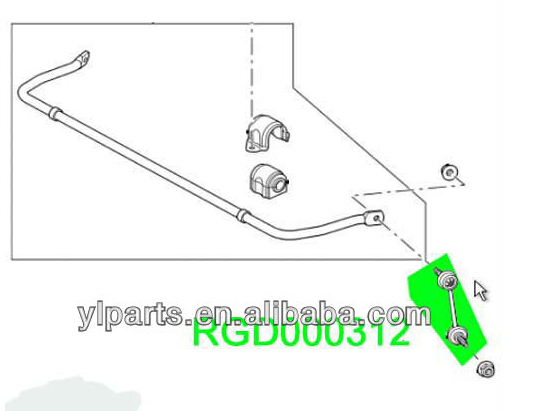 Rgd000312 New Land Rover Front Sway Stabilizer Bar Link