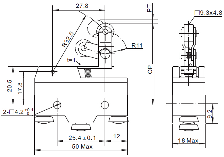 Hinge Roller Lever Type 220v Micro Switch With Ul Kc Ce
