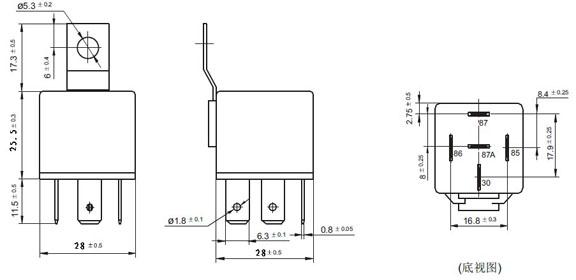 Zt616 12 v 24 v 4pin 5pin 30a 40a 60a 80a 100 amp relais