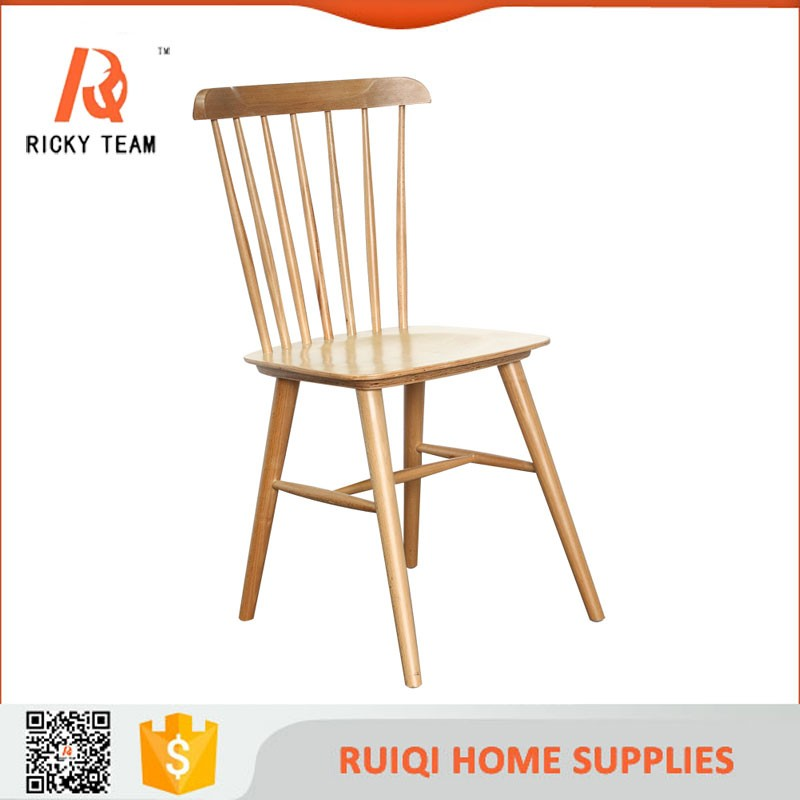 Colorful Natural Wood Simple Windsor Chair Bali Wooden