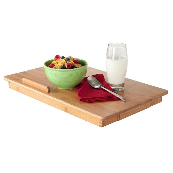 Bamboo Multi-position Adjustable Serving Bed Tray Laptop