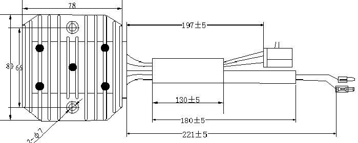 Three-phase Full Wave Ca250 Motorcycle Voltage Regulator