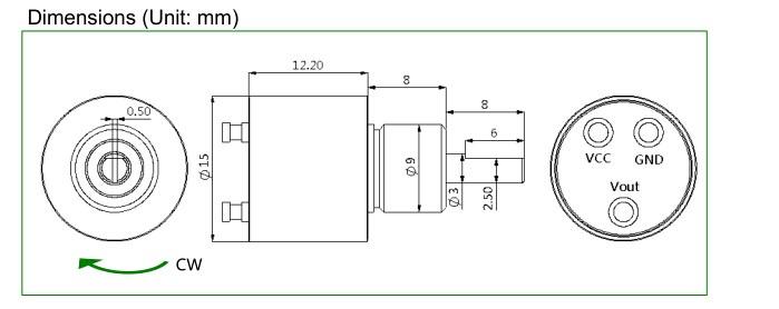 Micro Rotary Encoder Small Rotational Torque Magnetic