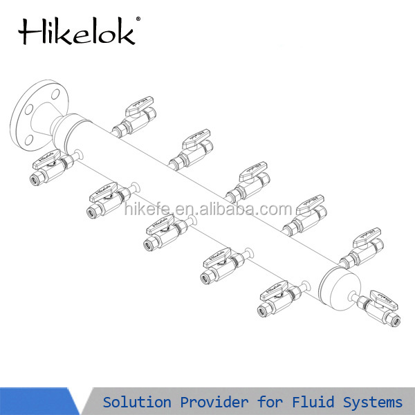 10 Outlets Valves Water Gas Air Header Distribution