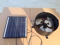 12w18v Dc Solar Gable Fan High Speed Solar Wall Mounted ...
