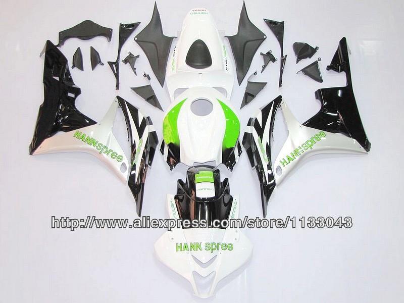ᓂ100% fit inyección verde blanco negro carenado kits para Honda ...