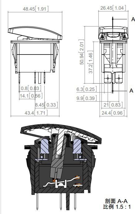 Cc 12v auto montato a pannello nebbia interruttore della