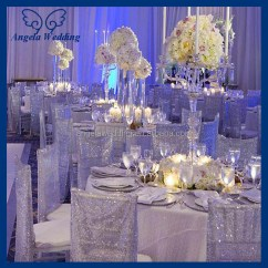 Chair Covers Cheap Stadium Chairs For Bleachers With Arms Ch026b Wholesale Gorgeous Wedding Embroidered Sequence Glitter Beaded Silver Sequin ...