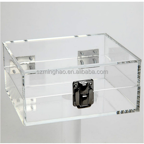 Clear Plastic Lockable Storage Box / Clear Small Acrylic Display Box With Lock - Buy Clear Plastic Lockable Storage Box.Acrylic Display Box ...