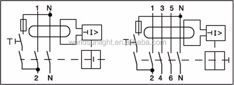 Xnfin Series Ip40 Nfin 30ma 40a 4 Pole Residual Current