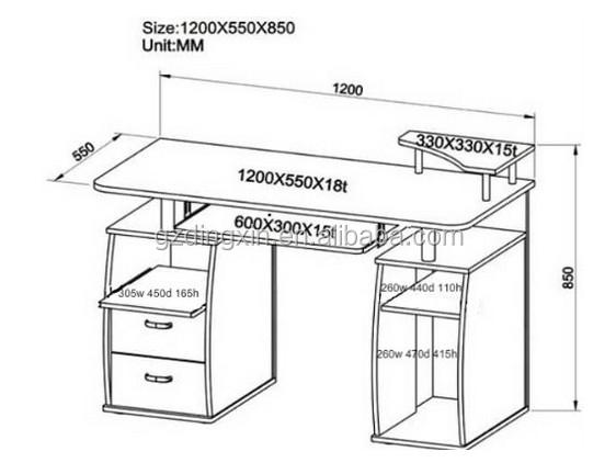 Standard Office Desk Dimensions Wooden Executive Desk Set