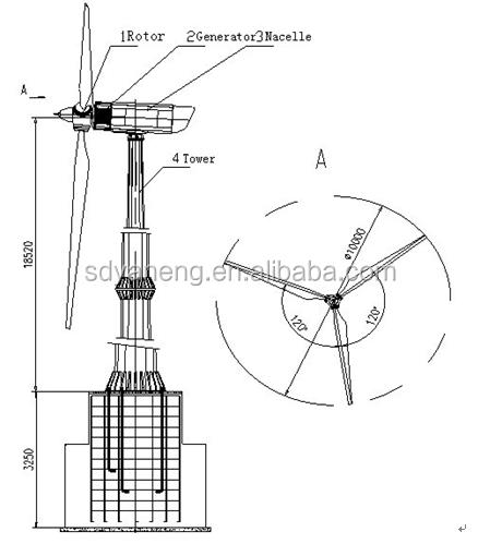 20 Kw Wind Turbine,Wind Generator 20kw With Monopole Wind