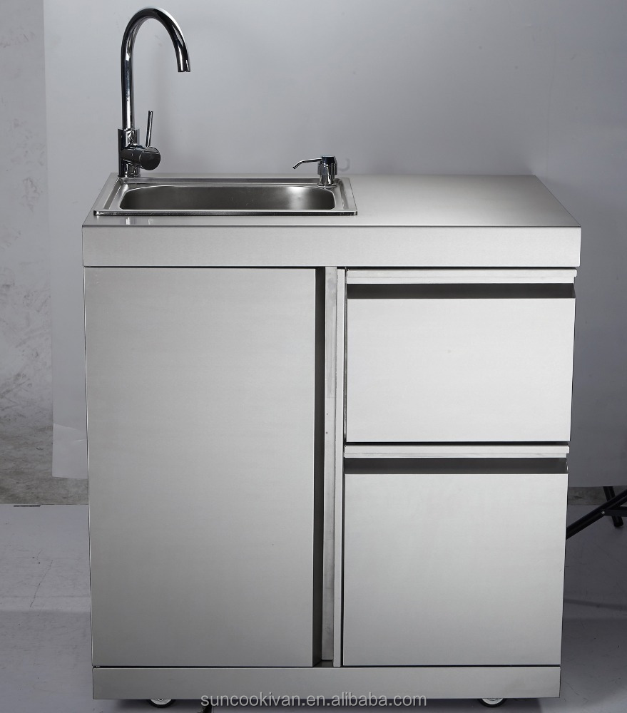 Stainless Steel Outdoor Sink CabinetWith Stainless Steel