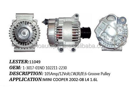 Alternator For Nippondenso Lester 11049,1-3017-01nd 102211