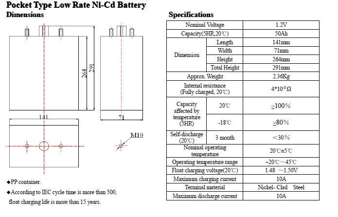 ni-cd battery nickel cadmium battery 1.2v 50ah, View ni-cd